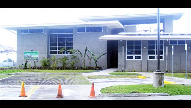 The new $4.6 million American Samoa Power Authority Operations Center building at its Tafuna compound, which was officially dedicated last Friday morning.  [photo: FS]