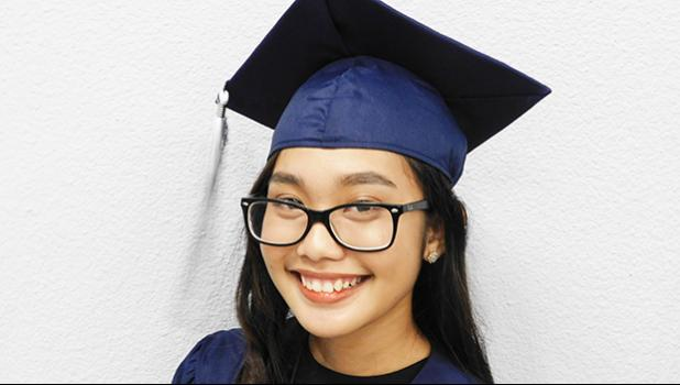 Nina Bianca Lucero Vergara will be attending Portland University in the fall as a nursing major. She is the recipient of Portland University's President's Scholarship that will cover half of her tuition and fees for the next 4 years. [photo: EM]