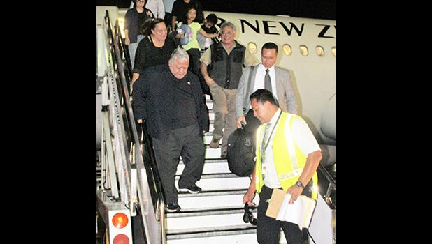 Prime Minister Tuilaepa Lupesoliai Dr. Sailele Malielegao has returned home following medical checks in New Zealand.  [courtesy photo]