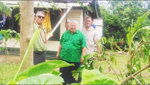 Minister of Education, Sports and Culture, Loau Keneti Sio with Prime Minister Tuilaepa Sailele Malielegaoi. [Samoa Observer]