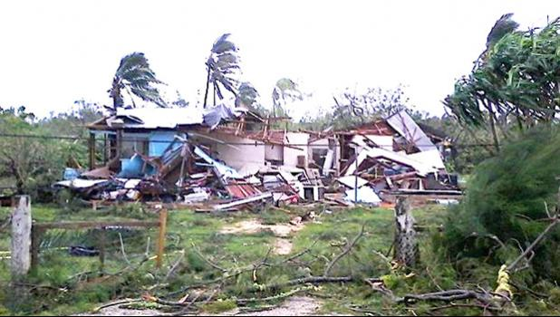One of many homes destroyed by Cyclone Gita in Tonga  [Photo: Ke Leka / RNZI]
