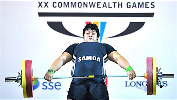 Iuniarra Sipaia of Samoa competes in the women's +75kg final during the 2014 Commonwealth Games.  [photo: AFP via RNZI]