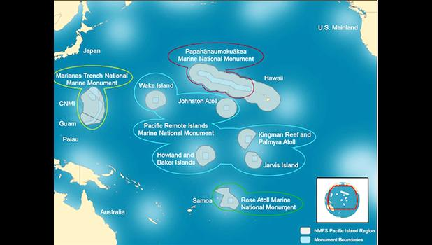 Pacific Islands Remote Marine National Monument  [Photo: Beth Pike, Marine Conservation Institute via Wikimedia]