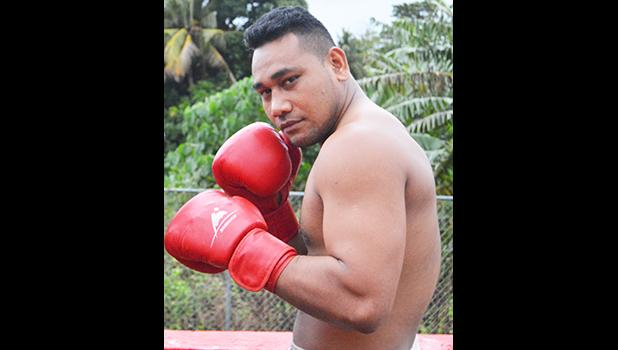 Samoa's gold medalist Petelo Matagi is now fighting for American Samoa. [photo AF]