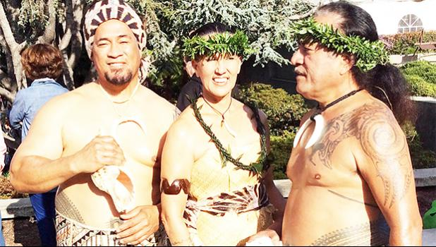 Taape Fa'amuli, Reggie Meredith and Su'a Wilson Fitiao at the opening of the Pacific World Arts Exhibition at the Oakland Museum in Oakland, California back in July 2015.  [SN file photo]