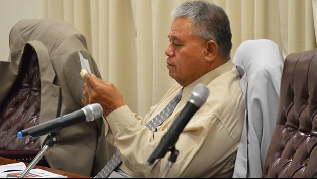 Vaifanua faipule, Rep. Lavea Fatulegae'e Palepoi Mauga was told by the House Speaker to remember that he's a faipule and he needs to act like one, especially when he's in the House chamber. See story for more details.  [photo: AF]