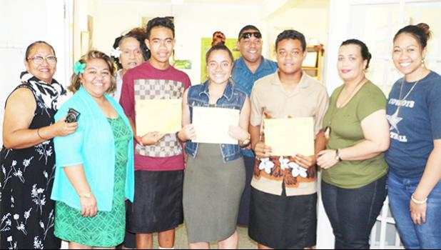 The Samoa News interns: Losaline Vaeono, Jeremiah Matafeo (not pictured), Sefo Tone, and Fau Tuifaina, were put to work not only to help them gain on-the-job training, but also to boost their self confidence and encourage them to have a voice, to stand up and speak articulately in front of an audience, including supervisors, co-workers, and customers. At the end of their month-long service, we can honestly say they came, they learned, and they conquered. We will miss you guys. Thank you for reminding us of