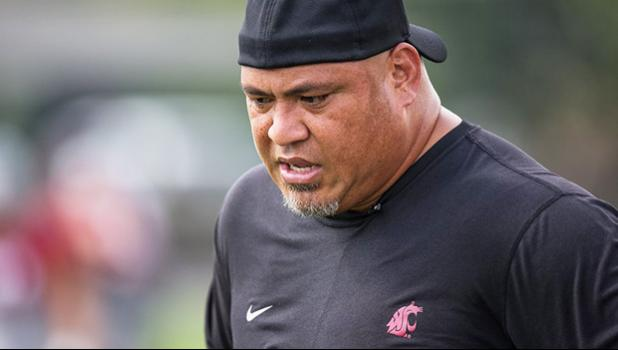 Washington State defensive line coach Joe Salave'a, a 9-year veteran of the NFL, has opened a recruiting pipeline to Pacific Islanders. (Dean Rutz / The Seattle Times)