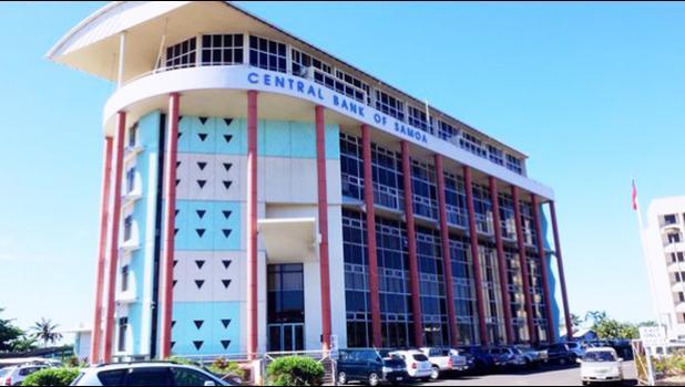 The Central Bank of Samoa, in the capital Apia.  [photo: RNZI/ Koroi Hawkins]