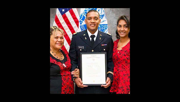 Ricardo Gonzales with his mother Eve Gonzales and sister Germania Gonzales, after receiving his Top Scholar Award in Criminal Justice during a special ceremony at the Missouri Valley College last week. [courtesy photo]