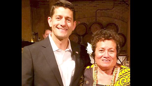 House Speaker Paul Ryan and Congresswoman Amata. [courtesy photo]