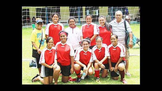 Tafuna Jets team_9471 The Tafuna Jets' women's team, champions of their division for the 2016 FFAS National League that ended on November 26, 2016 at Pago Park Soccer Stadium.  [FFAS MEDIA/Brian Vitolio]