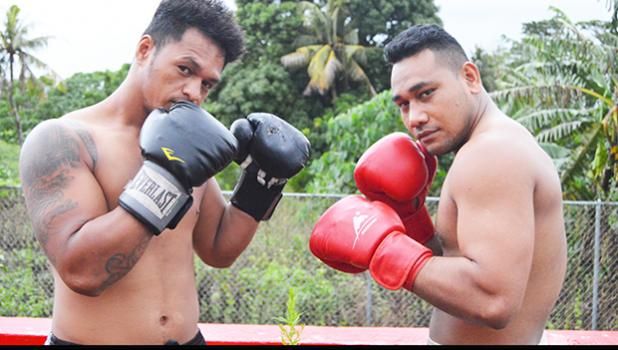 "Main event for the ""2Samoa Battle"" this weekend will be between Tesimale Fati-Taua'i of American Samoa (left) versus Petelo Matagi of Samoa (right). [photo: AF]"
