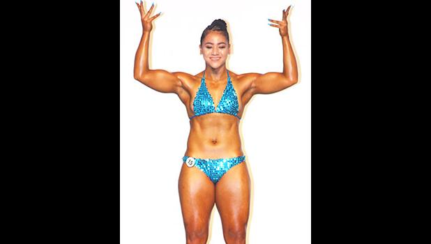 The 2018 Sau Ia (IFBB) Body Building Overall Women's Champion, Titiula Manuma. [photo: TG]