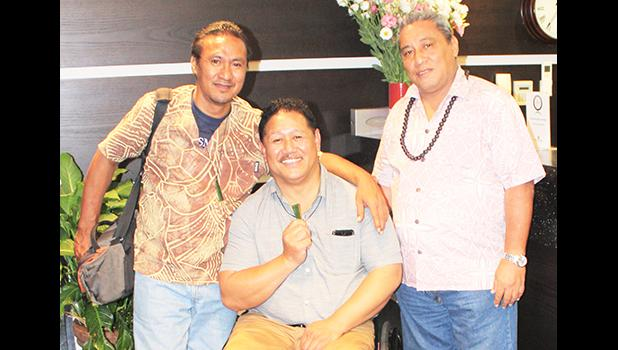 Tautai Toko Tafaeono with classmates of 1981 in reunion mode in Auckland, New Zealand this week.  [courtesy photo]