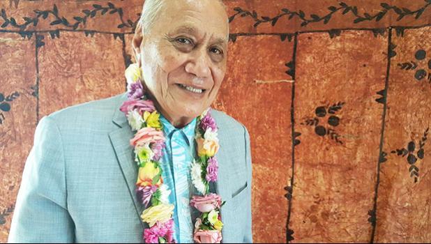 Former Head of State, His Highness Le Afioga a le Tui Atua Tupua Tamasese Ta'isi Efi [Photo: RNZ Pacific / Sela Jane Hopgood]