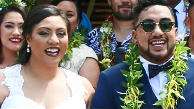 Christine Tupu and her husband on their wedding day in Samoa. Christine Tupu and her husband on their wedding day in Samoa. [photo: 9News]