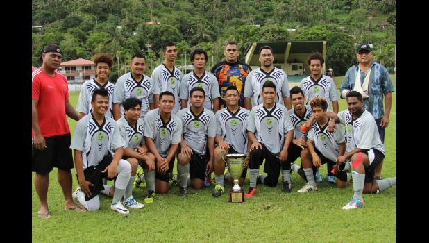 Utulei Youth, holders of the men's FFAS National Cup after their fifth straight successful defense on Match Day 5 of the 2016 FFAS National League on Saturday, Sept. 17, 2016 at Pago Park Soccer Stadium. 