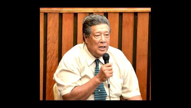 Le sui o le Ofisa o Mataupu Tau Samoa, le afioga ia Vui i le taimi na molimau ai i luma o le maota o sui i le taeao nei.  [ata AF]