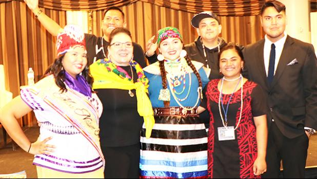 (Second from left, front row) The Administration for Native Americans (ANA) Acting Commissioner Stacey Ecoffey pictured with the Youth Leadership Panel, which included Francine Iopu (second from right - front row), who is from ASCC Students' Association for FaaSamoa and is an Intersections Taiala Peer Leader. The ANA Grantee Conference took place last week in Crystal City, VA. [courtesy photo]