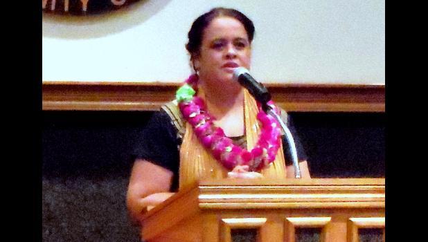 American Samoa Community College (ASCC) president Dr. Rosevonne Makaiwi Pato
