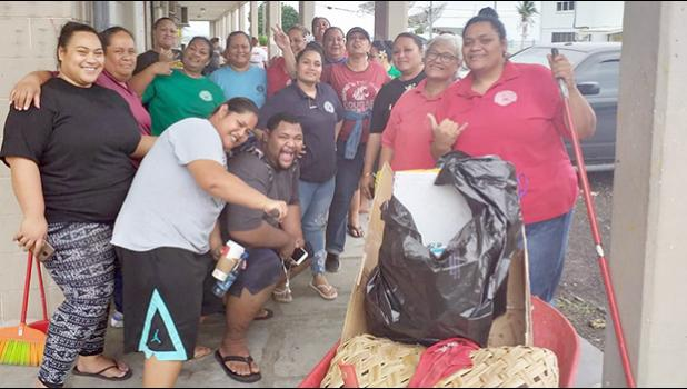Department of Human Resources (DHR) personnel working in Adopt A School program in 2019.