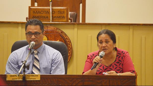 Attorney General Talauega Eleasalo Ale and Director of Education, Dr. Ruth Matagi-Tofiga