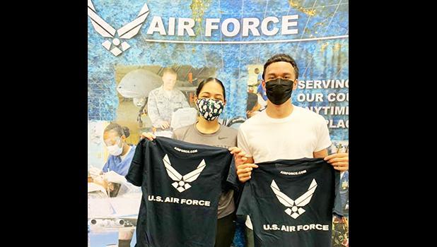 future Airman [Kalepo] Hemingway AND future Airman [Esther] Taufa'asau