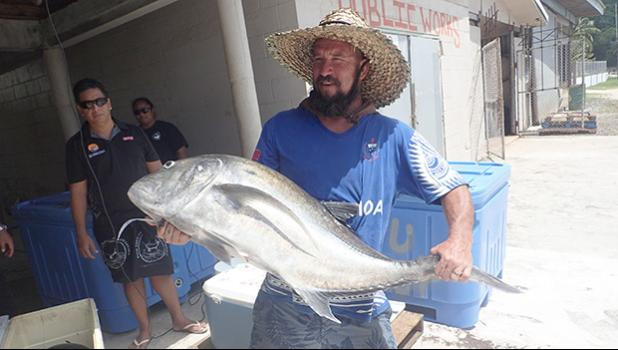 Dustin Snow with his winning catch