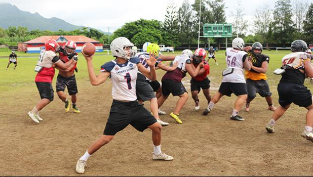 American Samoa's All-Star quarterback Francisco Mauigoa
