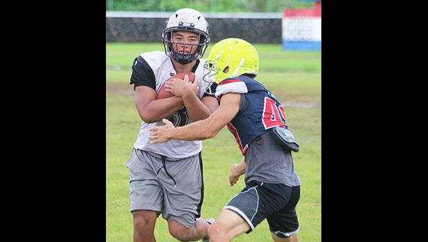 American Samoa's All-Star running back, Koison Ozu and defensive back Ben Tikeri