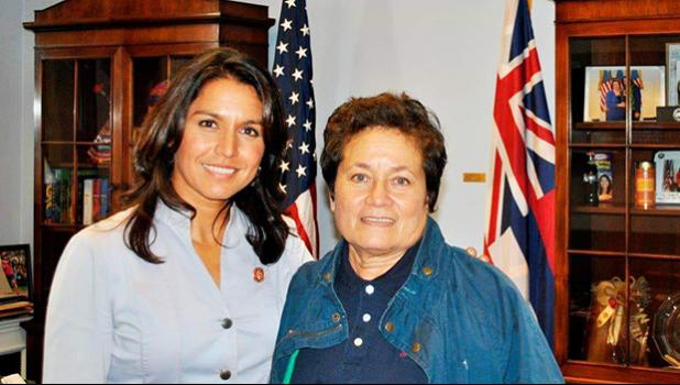 Congresswomen Aumua Amata and Tulsi Gabbard