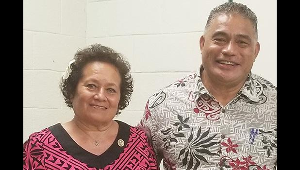Congresswoman Aumua Amata and Health Director Motusa Tuileama Nua.