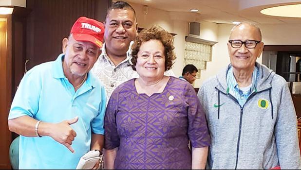 Amata and veterans in Honolulu