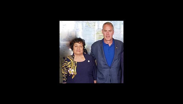 Aumua Amata and US Interior Secretary, Ryan Zinke.