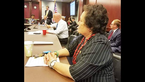 Amata in an earlier meeting at the U.S. Capitol