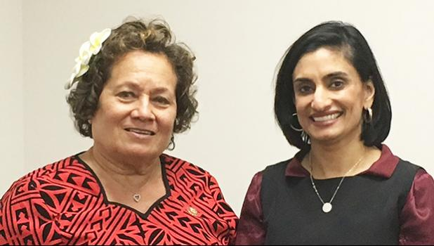 Congresswoman Amata with the administrator of the Centers for Medicare & Medicaid Services, Seema Verma.