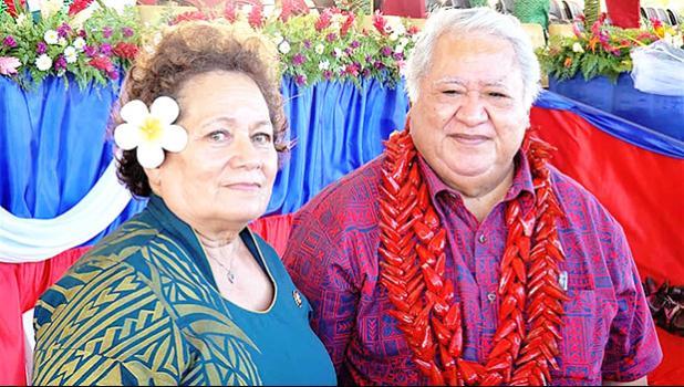 Congresswoman Aumua Amata and Samoa PM Tuilaepa Dr. Sailele Malielegao