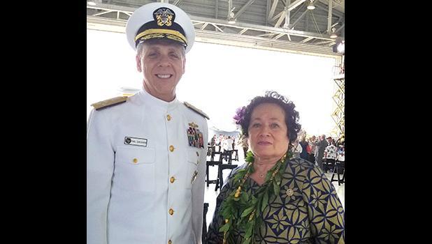 Congresswoman Amata with Admiral Phil Davidson,