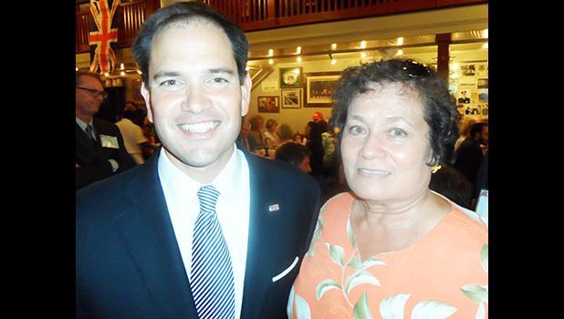 Congresswoman Amata and Sen. Marco Rubio