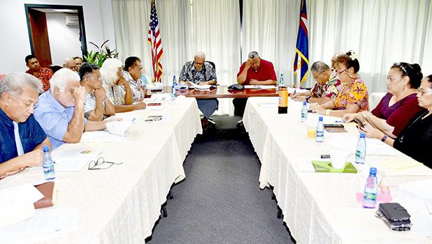 Members of the American Samoa governor's coronavirus task force and working group