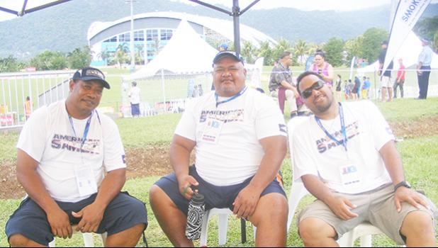 Members of the American Samoa delegation to the 16th Pacific Games in Apia.