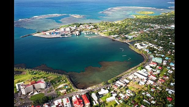 View of Apia, Samoa