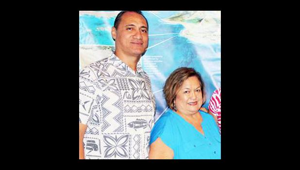 Council chairman and also American Samoa Council member, Totasi Archie Soliai and Council executive director Kitty M. Simonds