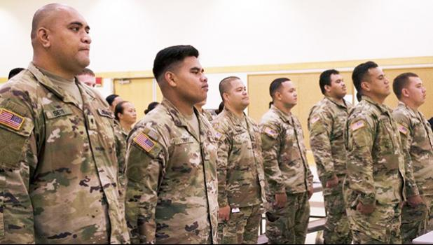 U.S. Army Reserve Soldiers from the 'Pride of the Pacific's' 9th Mission Support Command