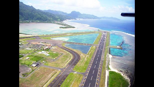 Aerial view of Pago Pago International Airport