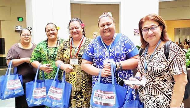 Suafa Fa'asulu, Christina Leatimua, Wendy Vaovasa-Lotulelei, Leitu lesa, and Beauty Tuiasosopo