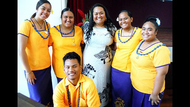 Tonya Tuigamala (center) and ASCC-PTK officers