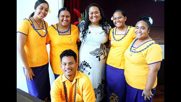 Tonya Tuigamala (center) and ASCC-PTK officers