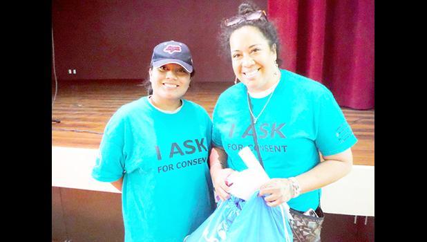 Maluseu Doris Tulifau in American Samoa with ASCC student in 2019